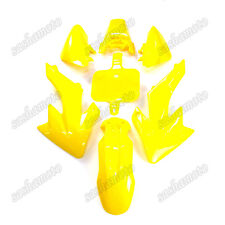 Yellow Plastic Fairing Body Kits For Honda CRF50 XR50 Pit Dirt Bike 50cc-160cc