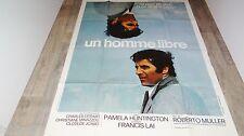 UN HOMME LIBRE ! gilbert becaud affiche cinema musique 1972