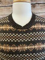 RRL Wool Sweater Brown Size L Men's