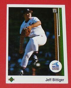 JEFF BITTIGER WHITE SOX CHICAGO BASEBALL CARD UPPER DECK USA 1989