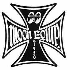 MOONEYES BLACK IRON CROSS  STICKER RAT HOT ROD GASSER  VTG VW BUGGY MQD020BKL