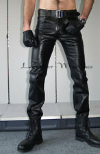 Lederjeans 5-Pocket Leder-Hose Lederhose