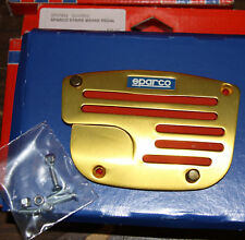 SPARCO SP37864 STRIPE BRAKE PEDAL GOLD RED NEW NOS RARE!!