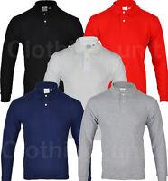 Boys Girls Childrens Kids Long Sleeve Pique Polo Shirt Top Warm School PE