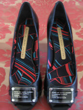 NEW MARC BY MARC JACOBS BLACK LEATHER SHOES SIZE 6 1/2 OR 7 1/2 IN FANCY INSOLES