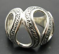 STYLISH STERLING SILVER RING SOLID 925 SNAKE BAND NEW SIZE J - V EMPRESS