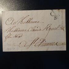"""FRANCE MARQUE POSTALE LETTRE COVER """"P"""" AVEC COURONNE 1771 L8 (PARIS)"""