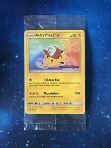 Pokemon 1x Ash's Pikachu SM108 Black Star Promo sealed Englisch NM/Mint OVP Neu