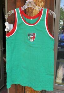 1984 Summer Olympics Men's Mexico Rowing Team Tank T-Shirt Sz 40 Green Red LA