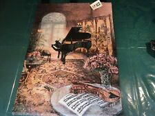 Music Room - Wall Hanging- Grand Piano -Tapestry- made in USA