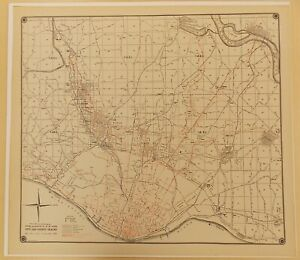streetcar wall map, United Railways St. Louis City and County Tracks, 1920