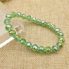 New Fashion Jewelry 8Mm 5040 6x8mm Rondelle Glass Crystal Beads Stretch Bracelet