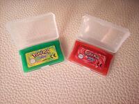 LOTE GBA Pokemon Game Boy ADVANCE POKEMON VERDE HOJA Y ROJO FUEGO ESPAÑOL