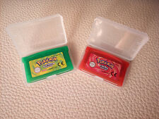 LOTE GBA Pokemon Game Boy ADVANCE POKEMON VERDE HOJA Y ROJO FUEGO ESPAÑOL