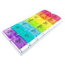 JFA Medical Weekly Pill Box Organiser/Reminder for Medicines Supplements