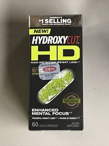 Hydroxycut Hd High Definition Weight Loss 60 Liquid Capsules Exp. 6/19/21