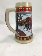 Vintage 1993 Budweiser Holiday Stein Hometown Holiday - Preowned