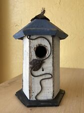 Rustic Wooden Birdhouse With Lady Bug Design