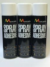 3 X Cola Spray Adhesivo 500 Ml Heavy Duty profesionales pisos de alfombra de vinilo