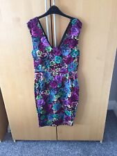 BNWT Louche Multicoloured Fitted Dress 10. Wedding/ christening/ Occasion
