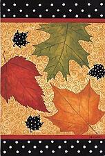 "Falling Leaves Fall House Flag Seasonal Autumn Yard Banner Evergreen 29"" x 43"""