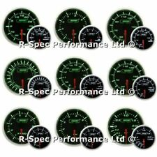 ANY 3 GAUGE OFFER - New 52mm Prosport  Green / White Turbo Boost Oil Water Temp