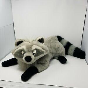 "Rare Disney Pocahontas Meeko Jumbo 36"" Mattel Plush 90s Vintage Stuffed Raccoon"