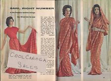 1962 TV ARTICLE~ACTRESS MIDGE WARE SHOWS TECHNIQUE FOR SARI WRAPPING~CHOLI