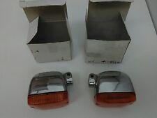 BMW Airhead R50 R60 R75 /5 Aluminum Turn Signals Reflectors and Lenses. Set of 2