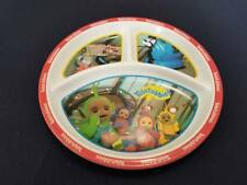 Zak Designs TELETUBBIES 3-Section Divided Plate Tinky Winky Laa Laa Dipsy Po