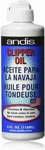 ANDIS Clipper Oil, Lubricant for Hair Clipper Trimmer Shaver Blade 4 fl oz/118ml