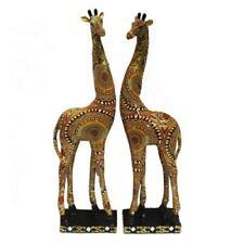 "18"" GIRAFFE PAIR STATUE FIGURINE JUNGLE AFRICA WILDLIFE HOME ACCENT"