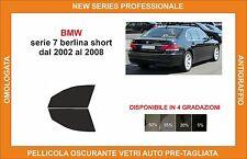 pellicola oscurante vetri bmw serie 7 berlina short dal 2002-2008 kit anteriore