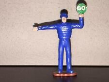 Remco Policeman Figure (1987). Directing Traffic.  Blue PVC Plastic