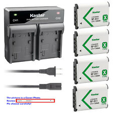 Kastar Battery Rapid Charger for Sony NP-BX1 BC-CSX & Sony Cyber-shot DSC-WX350
