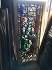 SG 2948 Painted And Fired Stained Glass Window Figural 28 75 x 64 75