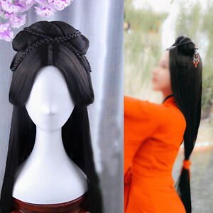Chinese ancient custom Whole Hair Wig Archaic traditional Hairpiece Cosplay
