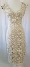 Ryan Michelle  Ladies Dress.Beige 100% Nylon.100% Polyester Lining  Size XL