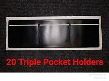TD3BX20 - [20] WINDSCREEN PLAIN TRIPLE POCKET HOLDER BLACK