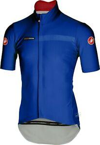 Castelli Men's Gabba 2 Blue Short Sleeve Cycling Jacket Large : SUPER CLEARANCE