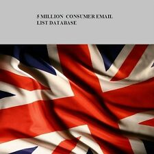 UK Consumer 5 Million Email List Database