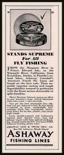 1934 AD ASHAWAY FLY FISHING LINES CRANDALL'S SILK PACKAGING MARGAREE KLAMATH