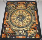 Original Tibetan Chinese Hand Painted Signed Mandala Gold Painting Thangka Art a