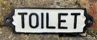 Cast Iron Wall Sign - TOILET - Free Postage - 18cm x 5cm