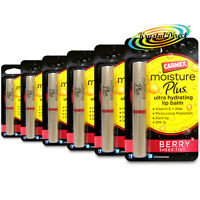 6x Carmex Moisture Plus BERRY Sheer Tint Ultra Hydrating Lip Balm 2g Vitamin E