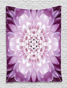 Dahlia Flower Mandala Design Tapestry Wall Hanging for Living Room Bedroom Dorm