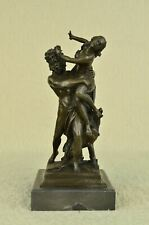 Stunning Bronze Sculpture Hades Abduction of Persephone Grab Nude Marble Figure