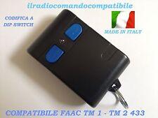 RADIOCOMANDO COMPATIBILE FAAC TM1 433 CODIFICA A DIP SWITC COME L'ORIGINALE