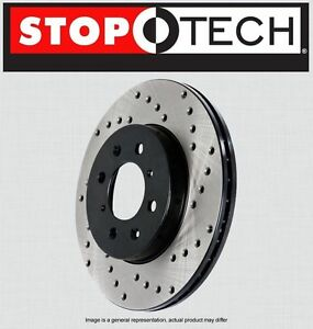 FRONT [LEFT & RIGHT] STOPTECH SportStop Cross Drilled Brake Rotors STCDF48008