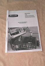 Alexander (GHA) 3A Engraver/Diesinker Machines Manual